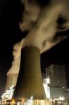Kraftwerke Neurath bei Nacht